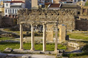 L'agora, place publique d'Athènes en Grèce
